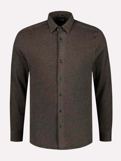 Knitted Shirt Triangle Jaquard